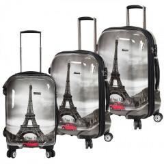 Cestovní kufr - sada P Collection C653 PARIS grey