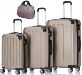 Cestovní kufr - sada P Collection C630+1054 Champagne